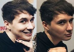 Dan painted his nails and it actually looks pretty good imo