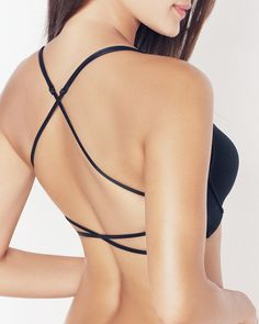 criss cross open back bra - cute under backless top or dress