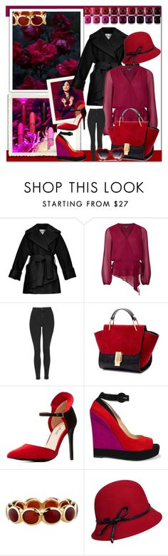 """""""reds with berries"""" by willy3384 ❤ liked on Polyvore featuring Cannella, Carven, Adrianna Papell, Topshop, Charlotte Russe, Paul Andrew, Ippolita, Betmar, red and berry"""