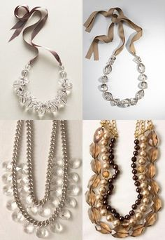 Bromeliad: DIY Wednesday: Easy Talbot's inspired necklace from your own stuff