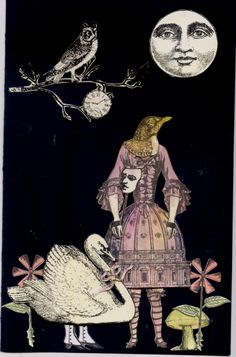 the MOONLIGHT BALL - Inspiration - Collage - Nancy Gene Armstrong
