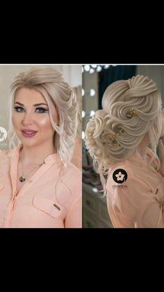 Curly Weave Hairstyles, Bride Hairstyles, Hairstyles Haircuts, Vintage Hairstyles, Cool Hairstyles, Long Hair Designs, Peinado Updo, Long Thin Hair, Wedding Hair Inspiration