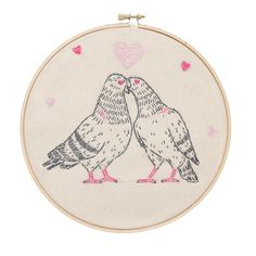 Love Pigeons embroidery kit from Studio MME