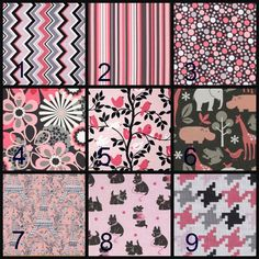 This listing is for a custom made It;s a Girl Themed Crib Bedding.  Made from cotton fabrics  ~PLEASE SEE SHIPPING POLICIES AND SHOP