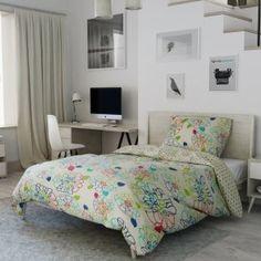 Bavlněné povlečení krémové zelené modré vínové květinové květiny růže puntíky tečky Comforters, Blanket, Bed, Furniture, Home Decor, Lily, America, Creature Comforts, Quilts
