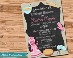 Printable KITCHEN SHOWER INVITATION  by GlitterAndShineShop, $12.00