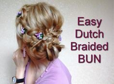 EASY DUTCH BRAIDED BUN HAIRSTYLE| Awesome Hairstyles
