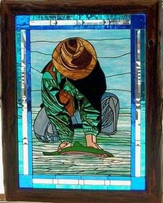 Pj's Catch And Release Rainbow Trout - Delphi Stained Glass