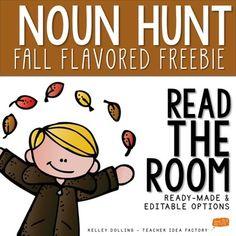 Nouns - Read the Room Activity {Fall Freebie}