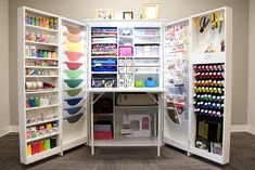 Teresa Collins StudioBox Srapbooking craft room organizing furniture; holds SO much!