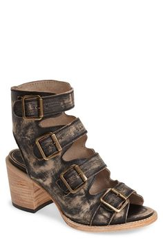 Freebird by Steven 'Quail' Open Toe Leather Bootie (Women) available at #Nordstrom