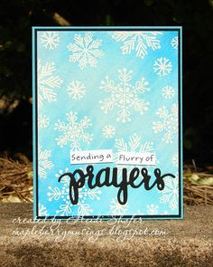 Mapleberry Musings: Camp Create: Flurry of Prayers
