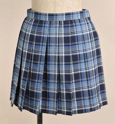 ラブライブ 声優着用スカート | オリジナルプリーツスカート/青チェック