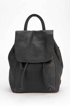 Deena & Ozzy Pebbled Leather Mini Backpack - Urban Outfitters