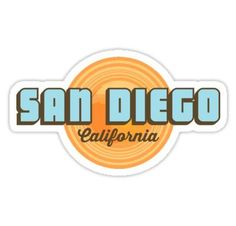 San Diego stickers featuring millions of original designs created by independent artists. Decorate your laptops, water bottles, notebooks and windows. Bubble Stickers, Phone Stickers, Diy Stickers, Printable Stickers, Surf Stickers, Preppy Stickers, Sticker Ideas, Vsco, Marken Logo