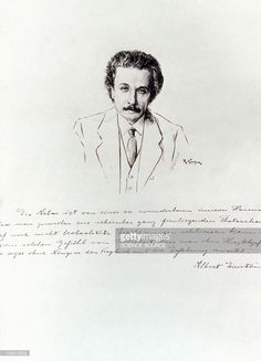 Portrait of Albert Einstein after an ink drawing by R. Kastor in the 1920's. Einstein was born at Ulm, Germany on March 14, 1879. Encouraged by his father, who was an electical engineer, Einstein studied at the Zurich Polytechnic Institue until the age of