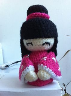Amigurumi Kokeshi Doll - FREE Crochet Pattern and Tutorial by Tamica Passionfyre
