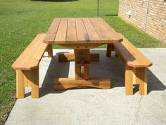Picnic Table Bench Plans - 12 Picnic Table Bench Plans , 15 Free Picnic Table Plans In All Shapes and Sizes Foldable Picnic Table, Octagon Picnic Table, Build A Picnic Table, Wooden Picnic Tables, Folding Picnic Table, Pinic Table Plans, Trestle Table Plans, Concrete Top Dining Table, Farmhouse Style Dining Table
