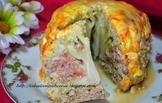 """""""I swear you guys, just adding a little spaghetti sauce, zucchini and of course cheese, takes this meatloaf to a whole to level. This is by far my favorite meatloaf recipe, plus its super easy to whip up on a busy night. Meatloaf Recipes, Beef Recipes, Chicken Recipes, Cooking Recipes, Stove Top Stuffing Meatloaf, Favorite Meatloaf Recipe, Cauliflower Vegetable, Polish Recipes, Polish Food"""