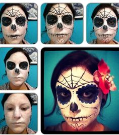Step By Step Sugar Skull Makeup! Great For Halloween