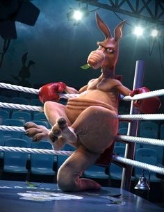 Boxing Kangaroo, Jose Alves da Silva on ArtStation at http://www.artstation.com/artwork/boxing-kangaroo