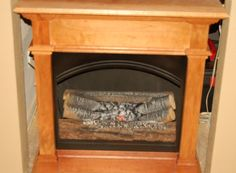 Dual purpose faux fireplace (with bookcase on the half back)