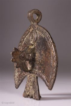 Africa | Ancient Bobo tribe Bronze Pendant | Sourced in Burkina Faso.