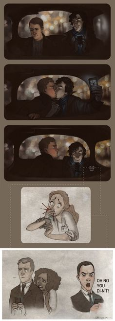Experiments are Fun by ~Sash-kash. LOOK AT SHERLOCK'S FACE. THERE'S A SASSY MORIARTY AND A OBVIOUSLY DISTURBED LESTRADE. MOLLY I CANT EVEN BEGIN TO DESCRIBE. JOHNLOCK FOREVER!