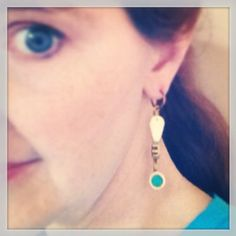Spit valve and recycled glass earrings by Flower7 on Etsy