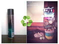 Porta orologi e bracciali con il #Recupero delle bombolette spray #Idea #RicicloCreativo  SEGUICI SU: www.facebook.com/CreoEco www.pinterest.com/CreoEco