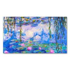 SOLD Water Lilies Claude Monet painting old master Business Card