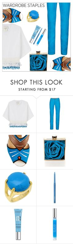 """""""White & blue"""" by simona-altobelli ❤ liked on Polyvore featuring 3.1 Phillip Lim, Marmot, Christian Louboutin, MAC Cosmetics, Givenchy, CLEAN, WardrobeStaple, MyStyle and polyvorecontest"""