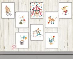 Here you will find a huge variety of baby and kids nursery wall art, printable and printed. Vintage Circus Nursery, Carnival Nursery, Kids Room Wall Art, Baby Wall Art, Nursery Wall Art, Bear Watercolor, Hippie Painting, Baby Drawing, Wall Art For Sale