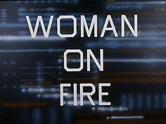 Katniss Everdeen?  Woman On Fire, 1990, by Ed Ruscha.