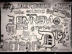 Drawing of Eminem inspired things.. Interesting.