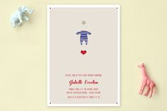 Le Petit Pyjama Etoile Baby Shower Invitations by Bonjour Paper at minted.com