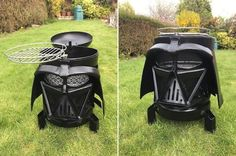 This Darth Vader Wood Burner Doubles As A Grill