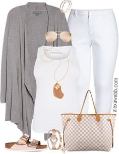 Plus Size Spring Grey Cardigan Outfit Plus Size Spring Grey Cardigan Outfit - Plus Size Spring Outfit Idea - Plus Size Fashion for Women - alexawebb. Outfits With Grey Cardigan, Grey Outfit, Gray Cardigan, Cardigan Fashion, Summer Cardigan, Summer Dress, Outfit Summer, Look Plus Size, Mode Jeans