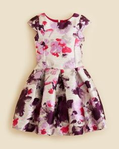 Zoe Girls' Floral Brocade Dress - Sizes 4-6X | Bloomingdale's