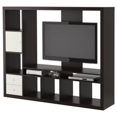 Furniture : Black Laminated Wooden Large Tv Cabinet With Two White Varnished Wooden Drawer As Well As White Varnished Wooden Storage Door Plus Black Laminated Wooden Shelf - Black Tv Cabinet Collections