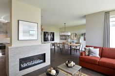 The fireplace as a central design feature in the living area