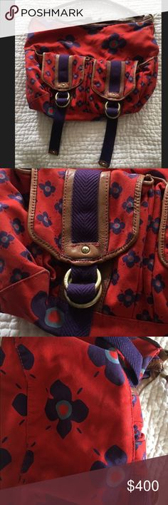Marc Jacobs Canvas & Leather Bag good condition some minor signs of use, over the shoulder adorable marc jacobs handbag. not sure if im ready to part with this yet...vintage hard to find.  please contact me with serious offers Marc Jacobs Bags Shoulder Bags