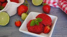Jahodový sorbet s limetkou - STRAWBERRY LIME SORBET, PALEO, GLUTEN AND DAIRY FREE
