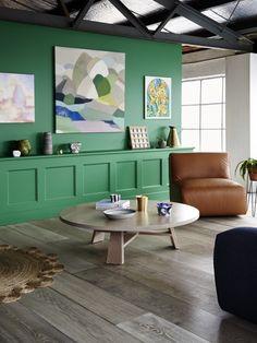 Le mur vert, l'élément tendance qui permet d'amener la touche de couleur qu'il faut  #mur #vert