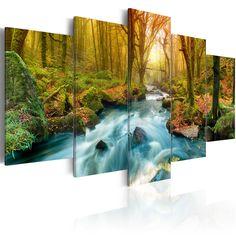 tableau toile tableau triptyque imprim 160x90 cm foret peinture pinterest tableau. Black Bedroom Furniture Sets. Home Design Ideas