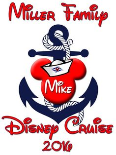 Personalized Family Vacation Disney Cruise Shirts T-shirt Mickey Minnie Cute! #7