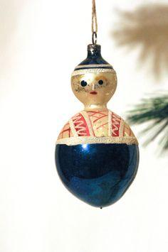 Vintage Mercury German Hand Blown Glass Snowman by TheModPasse, $110.00