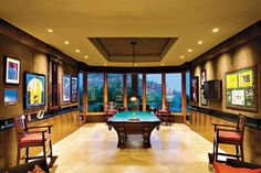 Designs by Sundown is a 2020 Gold List honoree featured in Luxe Interiors + Design. See more of this design professional's projects. Billiard Room, Entertainment Room, Game Room, Room Inspiration, Luxury Homes, Architecture Design, Contemporary, Interior Design, Rec Rooms