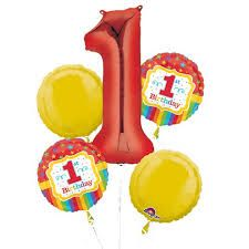 Celebrate the big 'one' with our first birthday balloons. Find your Elmo first birthday balloons, Winnie the Pooh first birthday balloons, and more. 1st Birthday Party Supplies, Birthday Balloon Decorations, 1st Birthday Parties, Birthday Ideas, Rainbow Balloons, Colourful Balloons, Mylar Balloons, Circus 1st Birthdays, First Birthdays