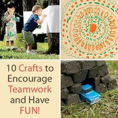 For Take Our Sons and Daughters to Work Day (April 25), teach them TEAMWORK! 10 Craft Projects to Encourage Teamwork and Have Fun